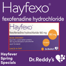 Load image into Gallery viewer, 30 x HayFexo Fexofenadine Hydrochloride 180mg Tablets (Generic Telfast Alternative)