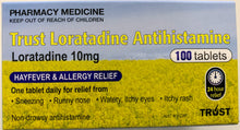 Load image into Gallery viewer, 100 x Trust Loratadine, 10mg (GENERIC CLARATYNE ALTERNATE 10MG)
