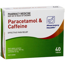 Load image into Gallery viewer, 80x Paracetamol Caffeine - Pharmacy Health
