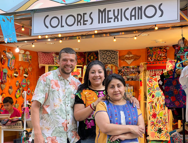 Colores Mexicanos in Chicago, Chicago's Mexican Gift Shop. Three owners.