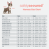 Picture of the harness size chart, showing how to measure your dog