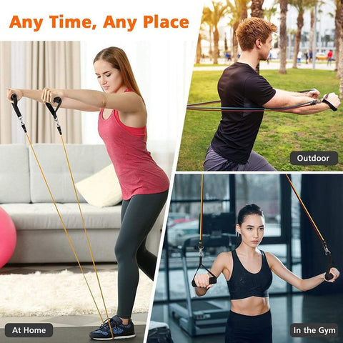 Professional Single Resistance Exercise Band: Non-Slip and Comfortable Handles | Physical Therapy, Strength Training and Muscle Toning