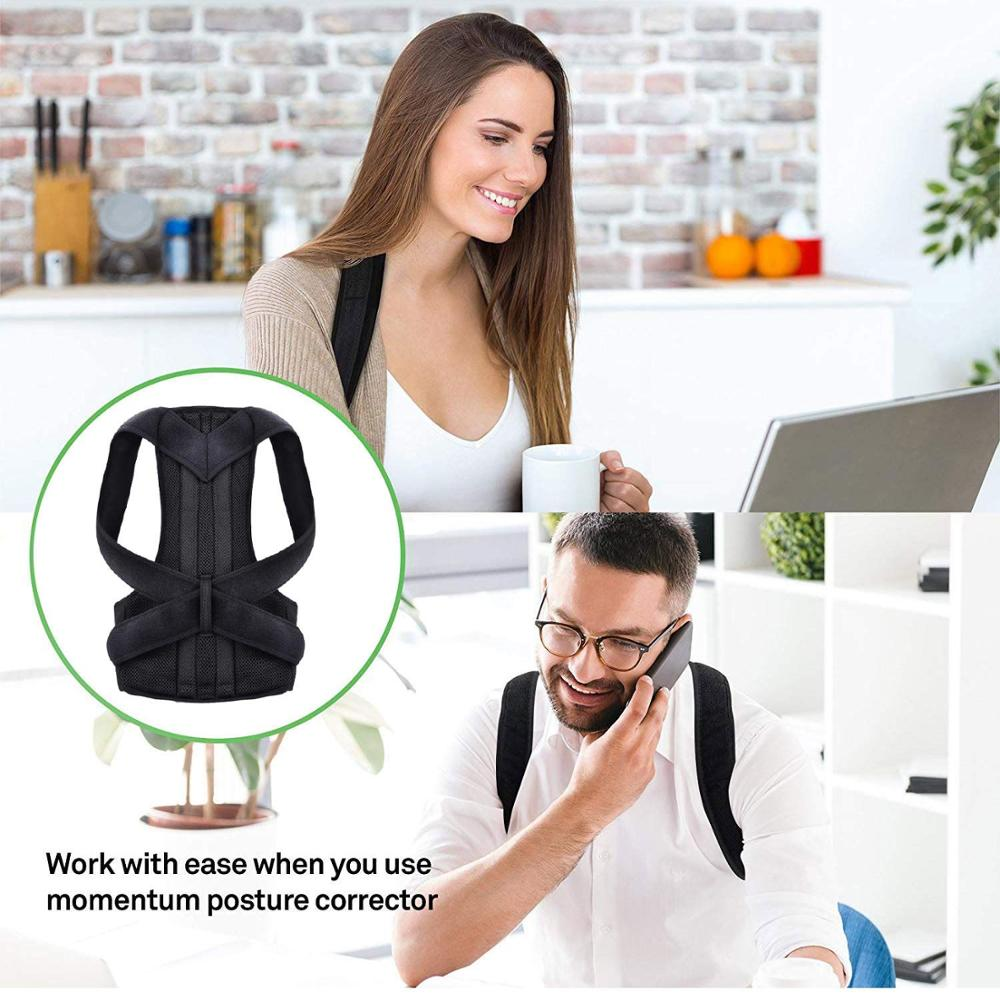 Posture Corrector | Adjustable Upper Back Brace Pain Relief Neck Back and Shoulder Unisex Universal