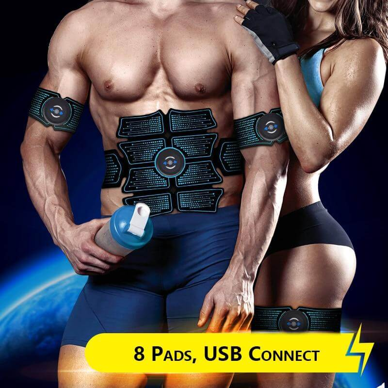 ABS Stimulation Muscle Toner | Toning Belt Muscle Trainer with 6 Modes 8 Levels