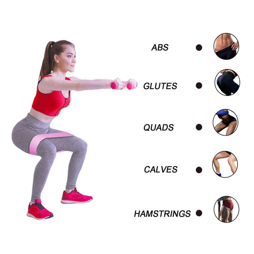 Aolikes Booty Bands | NonSlip Resistance Bands for Legs and Butt: Glute Bands for Women & Men Unisex