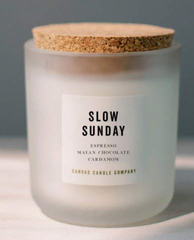 Canvas Candle Co Slow Sunday soy candle