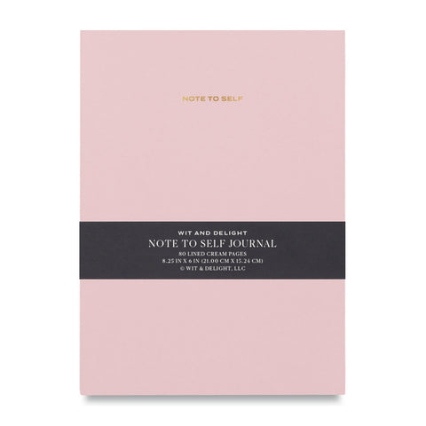 Pink Note To Self Journal