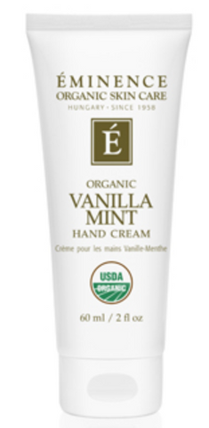 Soften and soothe dry hands with this hydrating hand cream, made with organic shea butter and a delicate hint of fresh vanilla and mint.