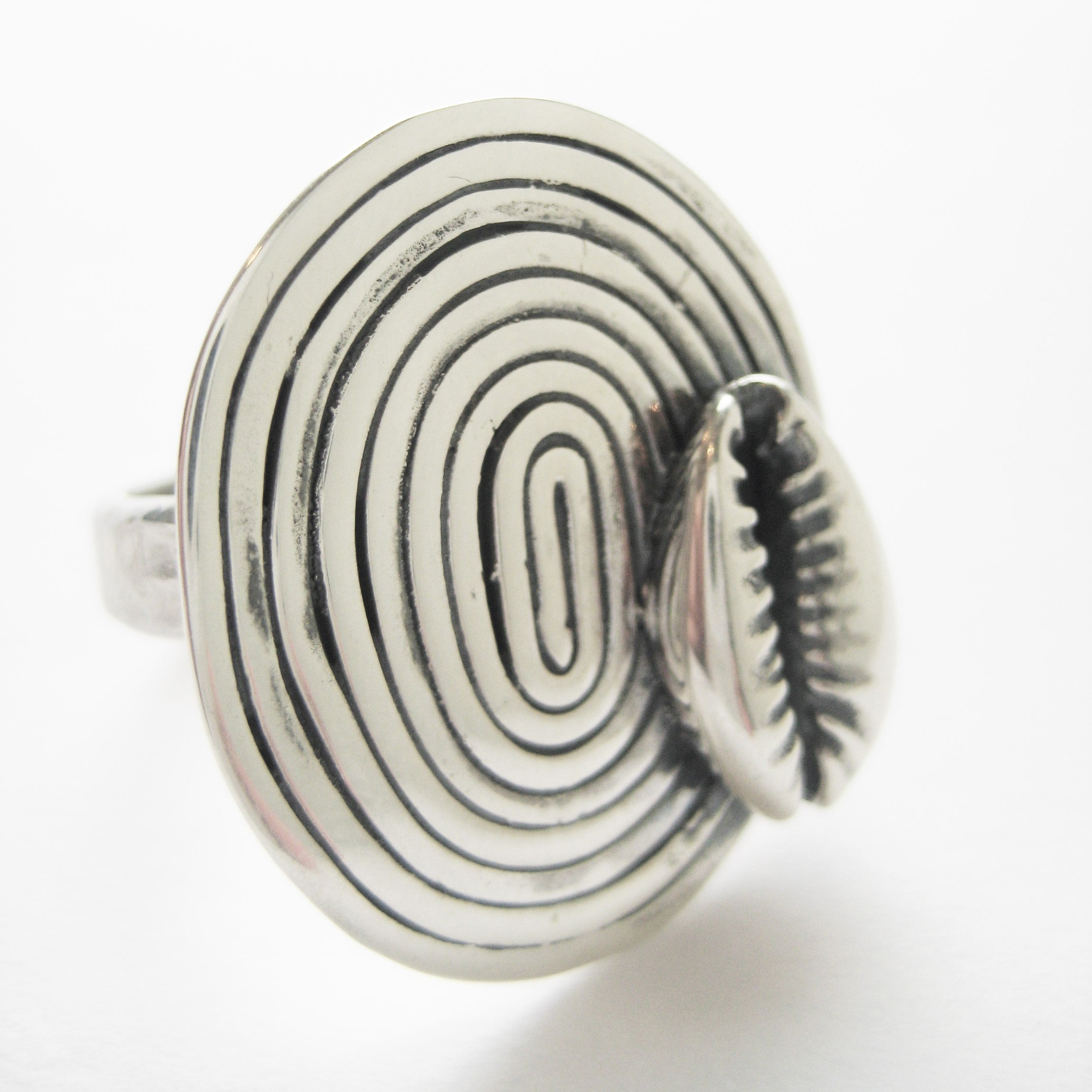 Cowrie Spiral Ring