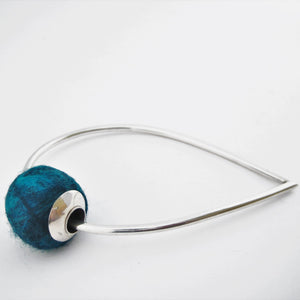 Felt Ball on Teardrop Bangle