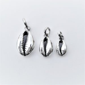 Cowrie Pendant in Solid Sterling Silver