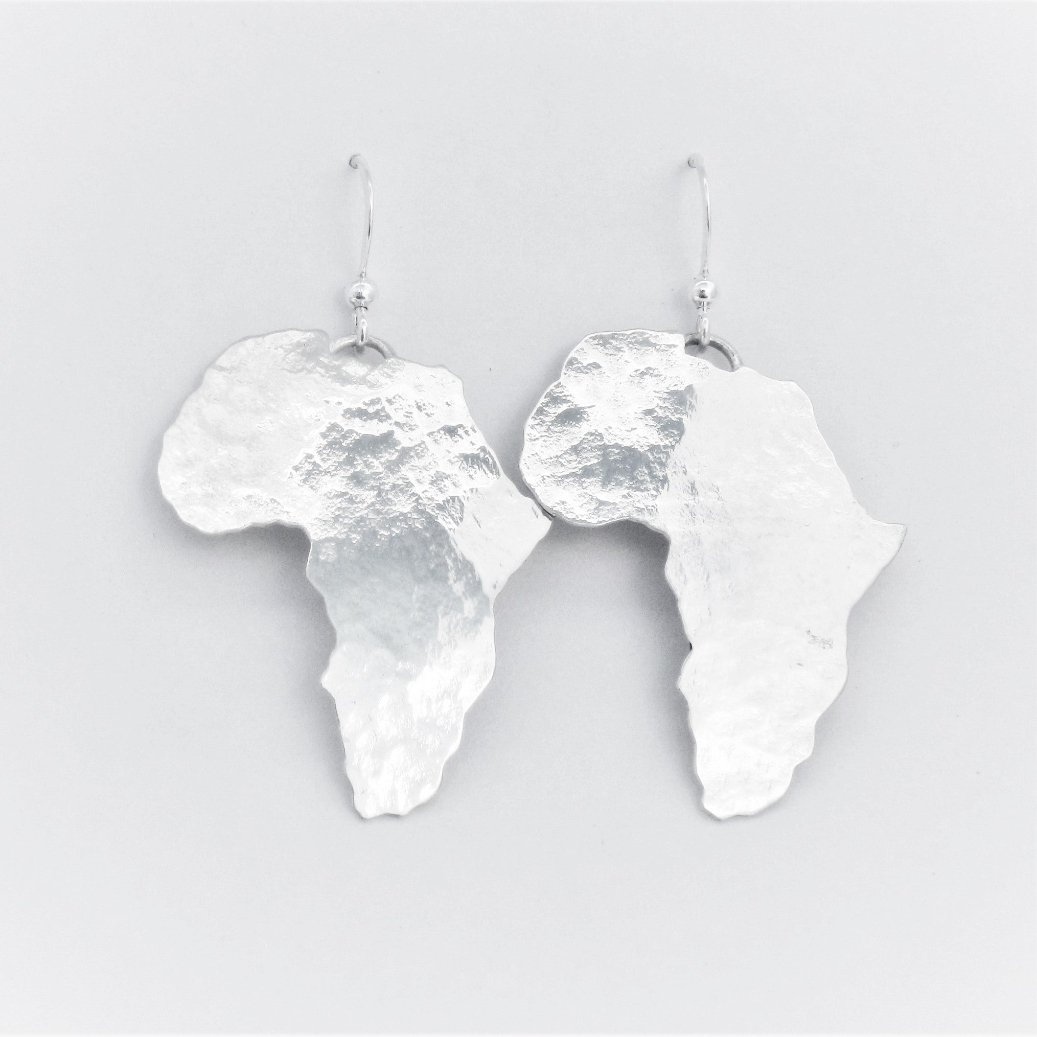 Africa Map Textured Earrings