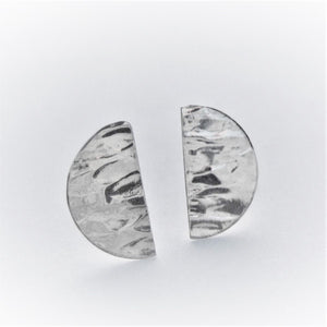 Textured Half Circle Stud Earrings (dia)