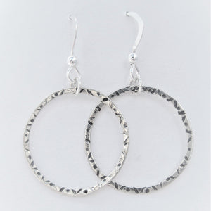 Stamped Hoop Earrings