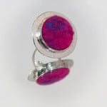 Load image into Gallery viewer, Felt and Silver Textured Statement Ring