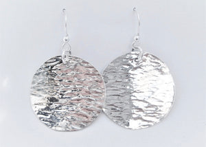 Textured Round Disc Earrings (dia)