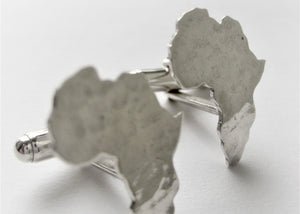 Africa Map Hammered Cuff Links