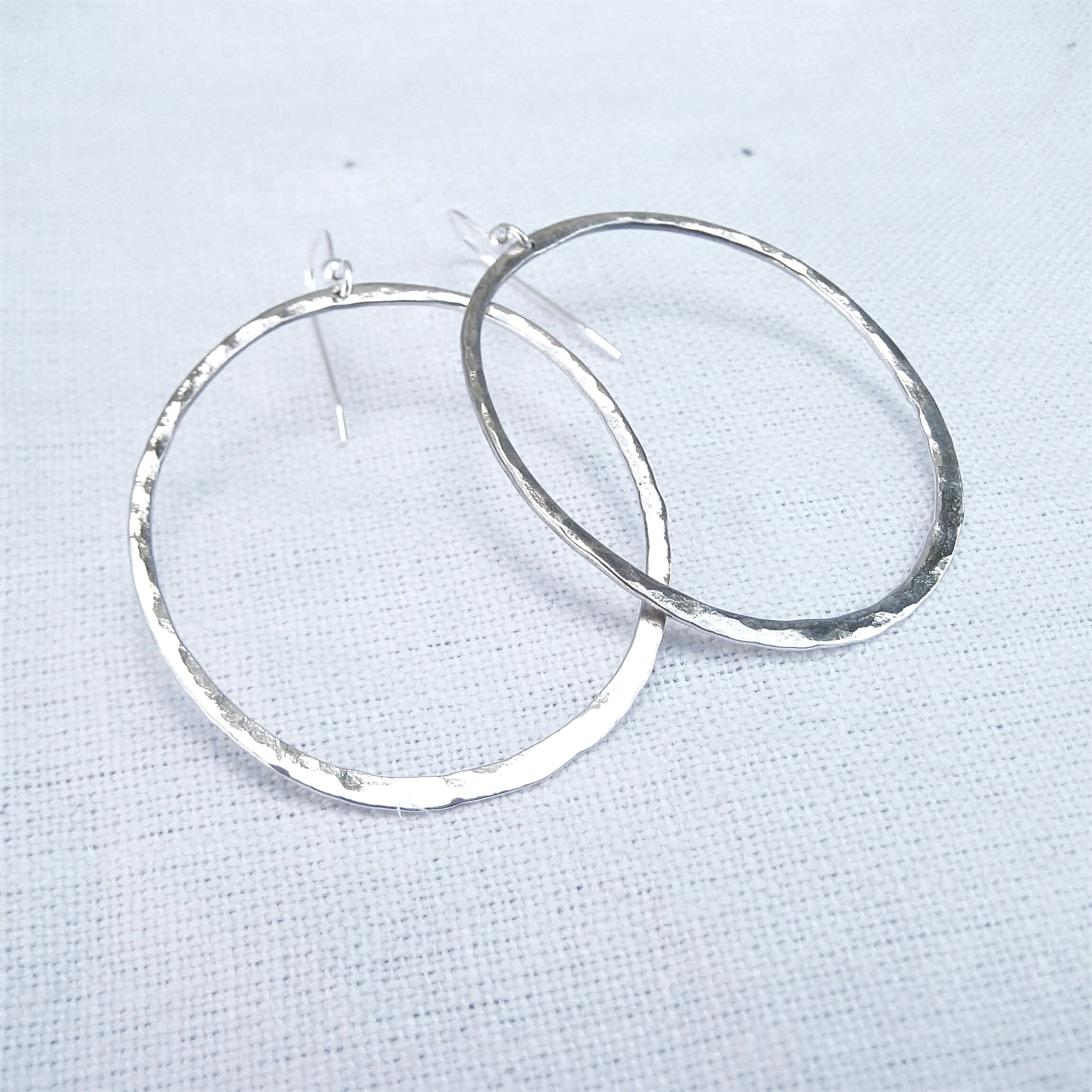 Hammered Loop earrings