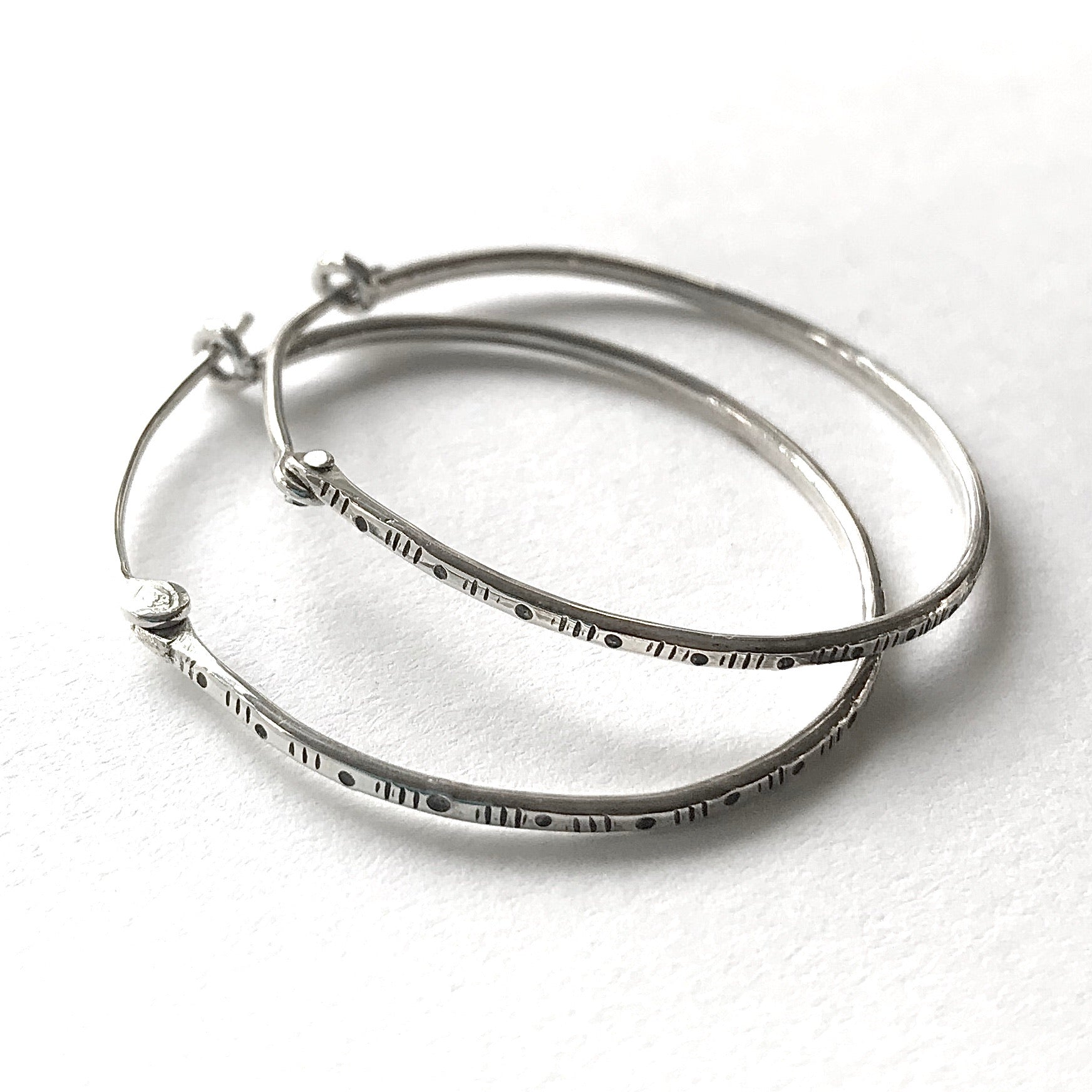 Dots & Dashes hoop earrings