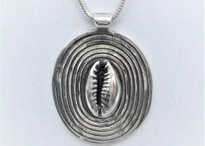 Cowrie Spiral Pendant