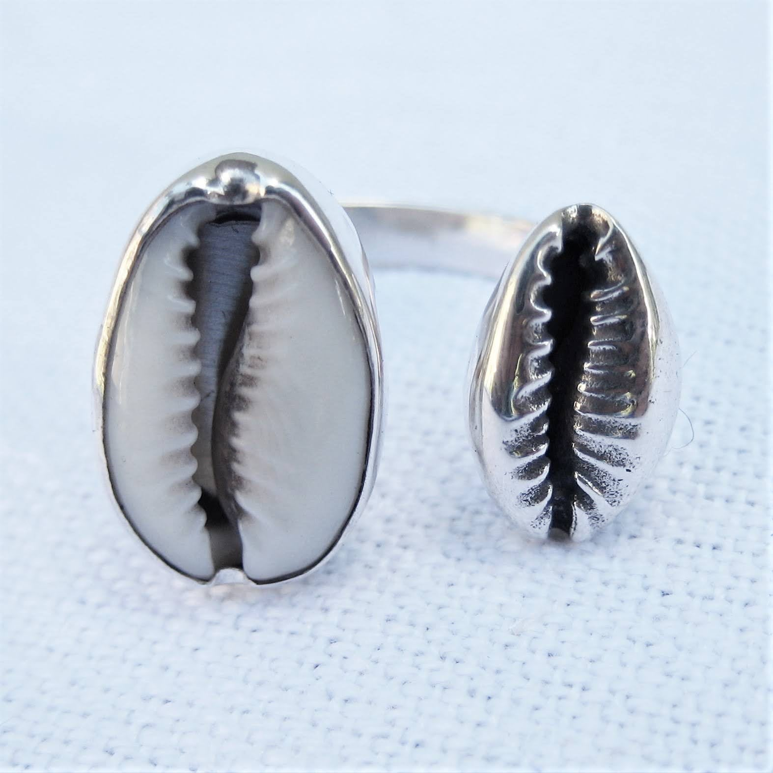 Mother & Daughter cowrie ring