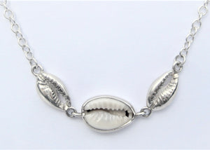 Cowries in a row Necklace