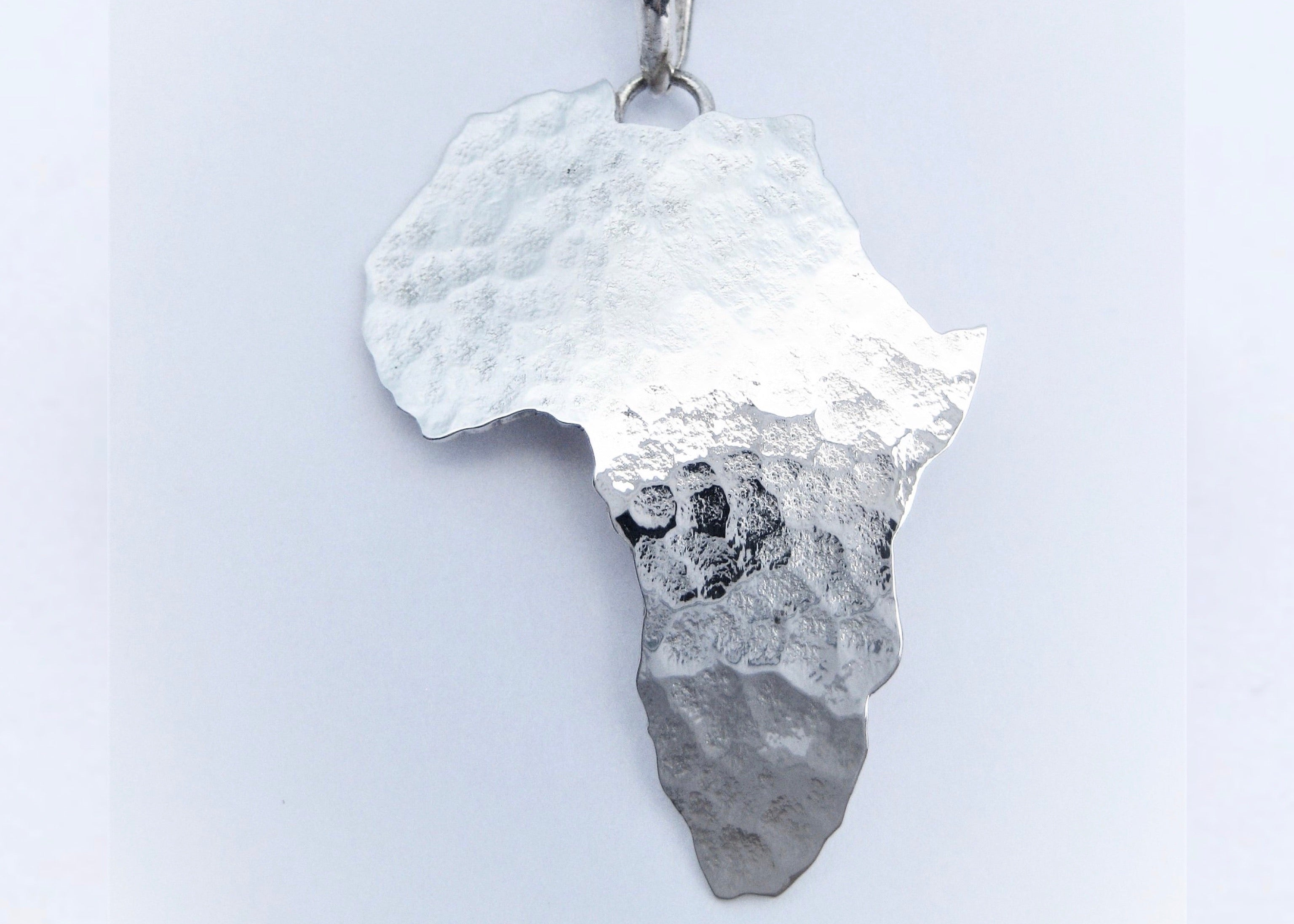 Africa Map Textured Pendant