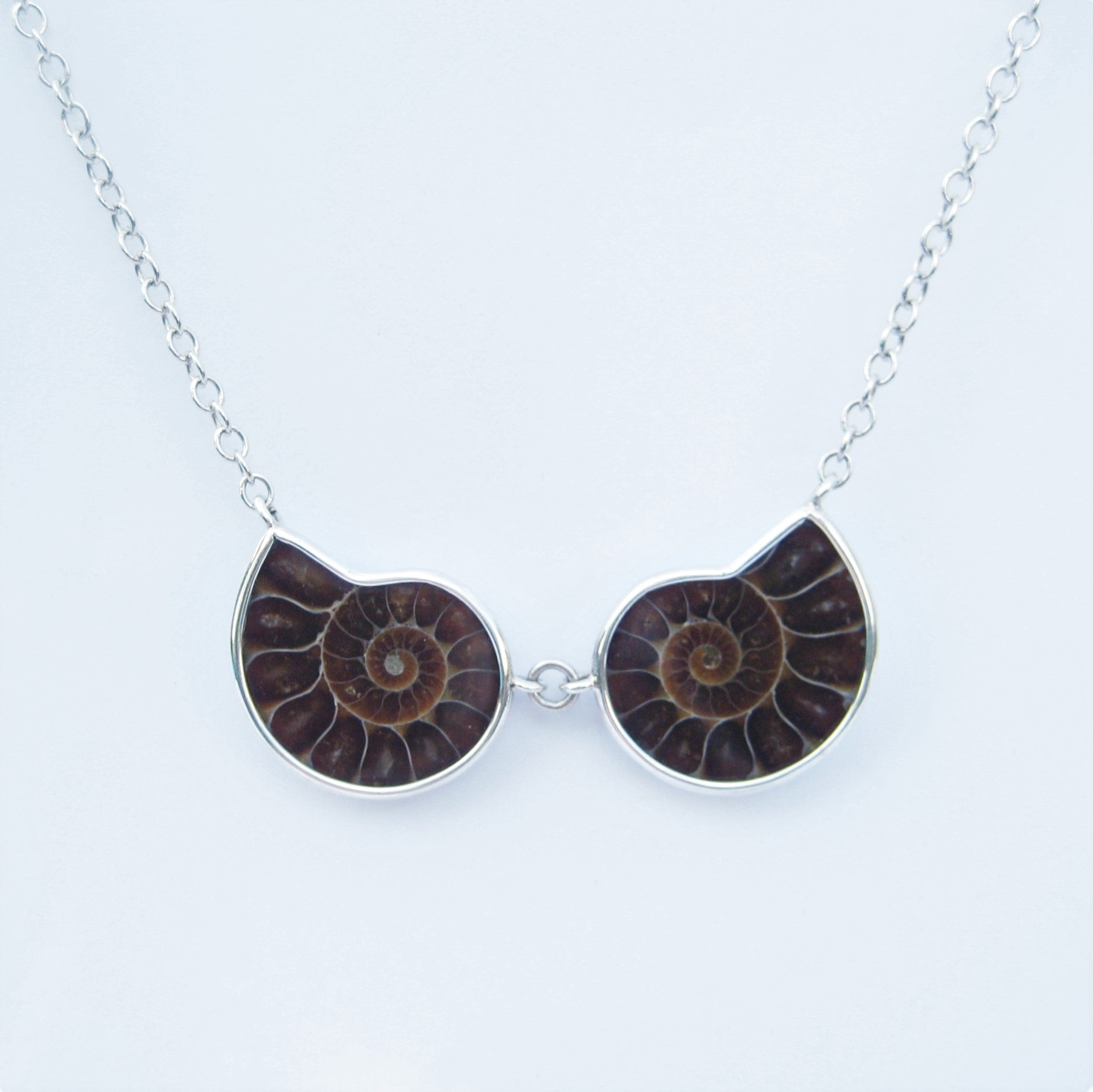 Ammonite Symmetry Necklace