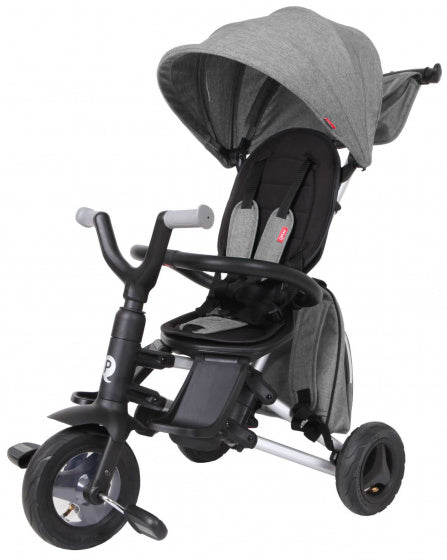 Qplay Driewieler Nova 4-In-1 Junior Zwart/Grijs