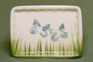 Plate, Rectangle, Butterfly