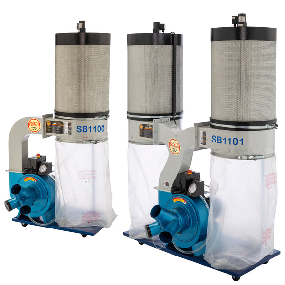 The South Bend 2 HP and 3 HP Canister Filter Dust Collectors