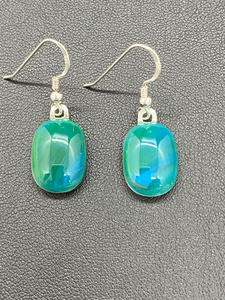 Earrings Turquoise Green Nondichroic