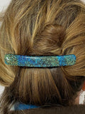 Fused Glass Barrettes-3 inch