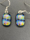 Earrings Boxes Pattern Dichroic