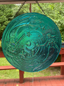 Mermaid Iridized Window or Wall Hanging