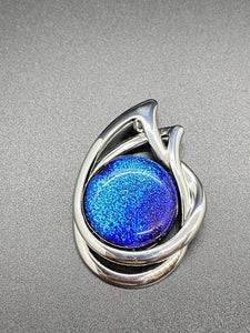 Pendant Metal with Blue Dichroic