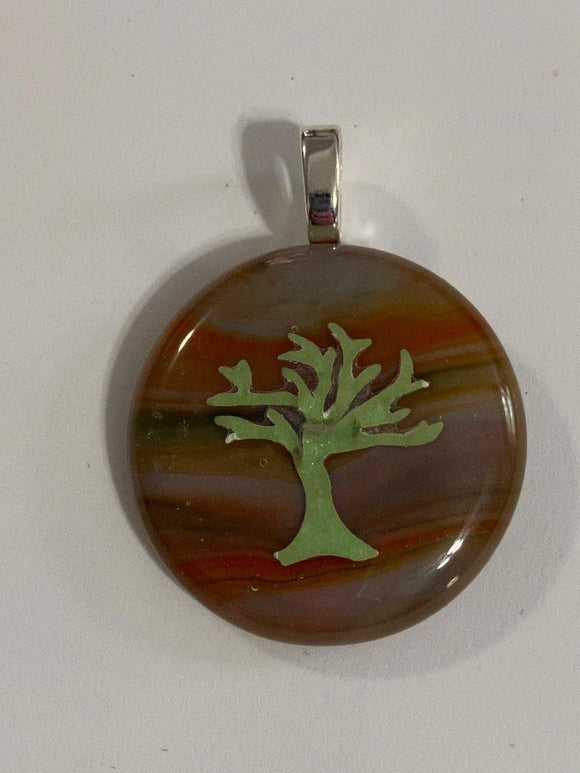Pendant Round with Tree of Life