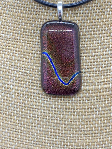 Pendant Deep Maroon Voltage Dichroic