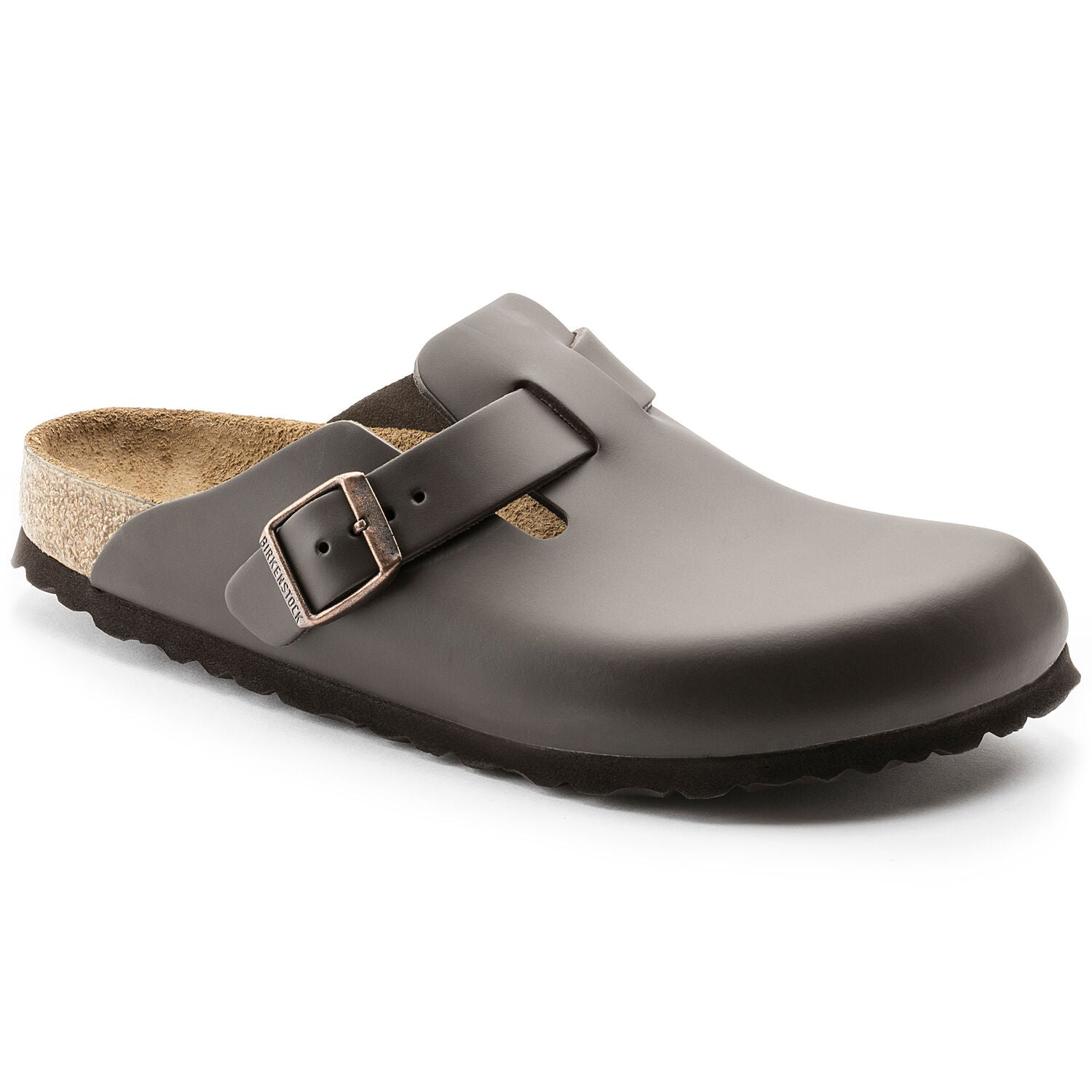 BOSTON NATURAL LEATHER - DARK BROWN