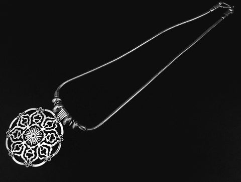 oxidized pendant in oxidized chain