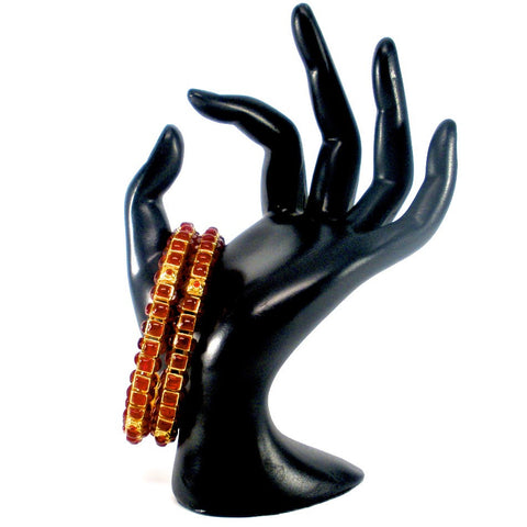 square shaped kemp stone bangles