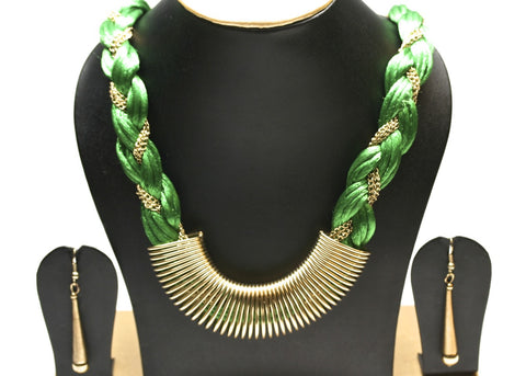 braided fashion necklace