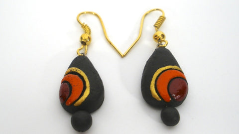 simple terracotta earrings