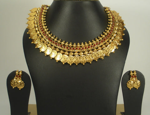 traditional coin necklace set