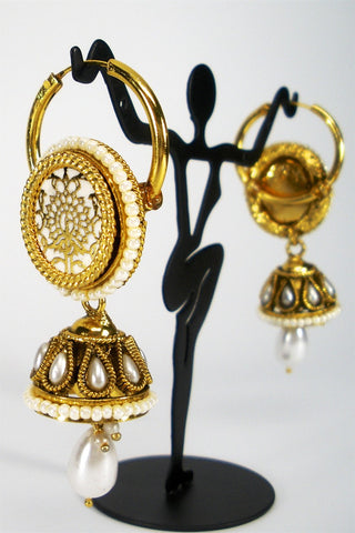 unique thewa jhumkas
