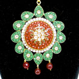 Grand takkar set in red and green combo