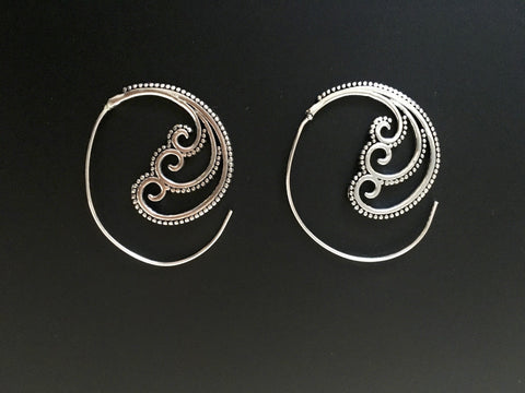 tribal spiral earrings