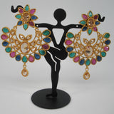 Bollywood style chandbali earrings