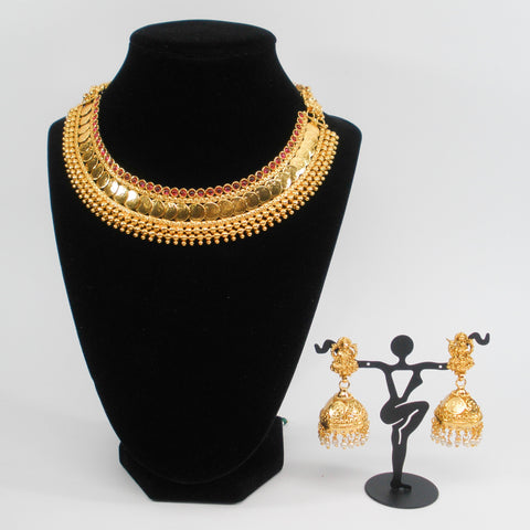 grand lakshmi coin necklace set