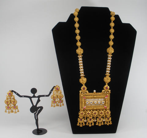 Grand set in antique gold finish
